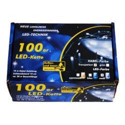 Vánoční LED osvětlení 10m - studené bílé, 100 diod