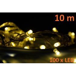 LED světelný kabel 20 m - teple bílá, 480 diod