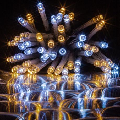 Světelný kabel 10 m - žlutá, 360 minižárovek
